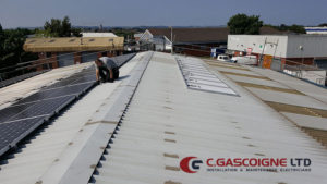 Removal of solar panels